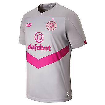 New Balance Celtic FC 2019/20 Mężczyźni Krótki rękaw Trzecia koszulka piłkarska Grey/Pink