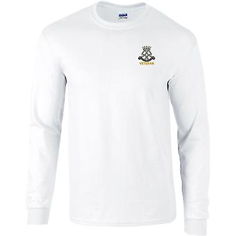Royal Yeomanry Veterano - Concesso in licenza British Army Ricamato Long Sleeved T-Shirt