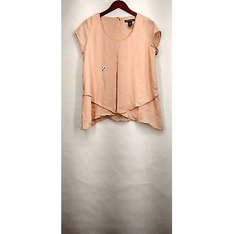 Kate & Mallory top korte mouwen Scoop nek licht roze Womens A416425