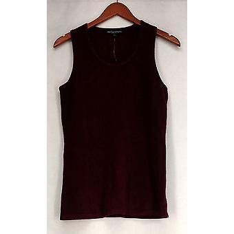 Wendy Williams Sweater Scoop Neck Sweater Tank Top Burgundy Red Womens 510-182