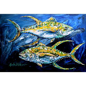 Carolines Treasures  MW1125PLMT Fish - Tuna Tuna Blue Fabric Placemat
