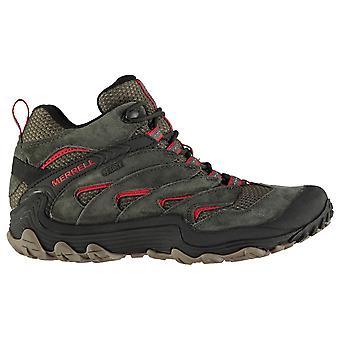 Merrell Mens Chameleon 7 limite mid impermeável andando sapatos casuais ao ar livre