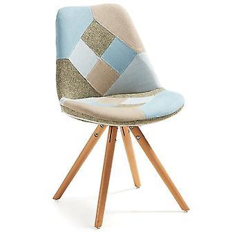 Käki Patchwork Fabric Chair Leg Käki Natural Wood (Furniture , Chairs , Chairs)