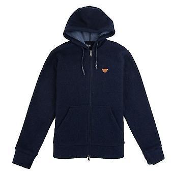 Armani jeans fleece skinn logo Hoody Navy