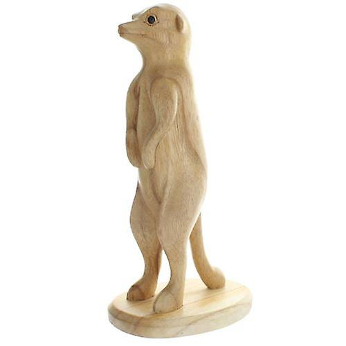 Meerkat Wood Standing 25cm