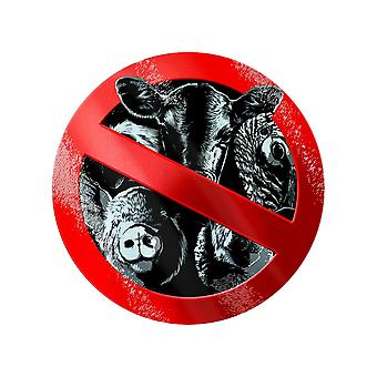 Grindstore Friends Not Food Circular Glass Chopping Board