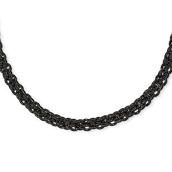 Roestvrij staal gepolijst zwart ip vergulde ketting 24 inch sieraden geschenken voor vrouwen