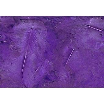 LAST FEW - 5g Purple Fluffy Feathers for Crafts