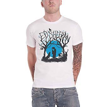 Ed Sheeran T Shirt Woodland Gig Logo new Official Mens White