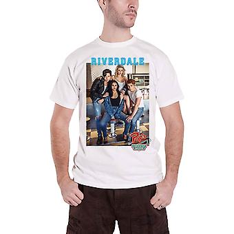 Riverdale T Shirt Pops Group Photo TV Show Logo new Official Mens White