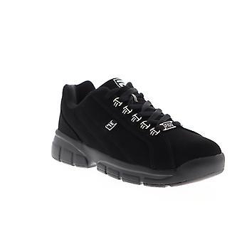 Fila Exchange 2K10 Mens Svart Nubuck Läder Låg Top Sneakers Skor