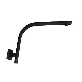Luxury Square Matte Black Wall Mounted Gooseneck Shower Arm