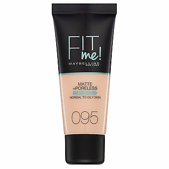 Maybelline fit me matte + poreless Foundation-095 Fair porselein