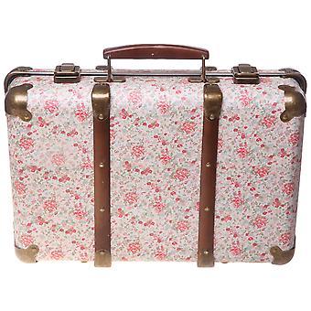 Sass & Belle Vintage Floral Roses Suitcase