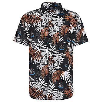 Nufc Mens Gents Floral Lightweight Short Sleeve Football Sports Shirt Top