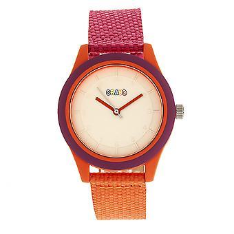 Crayo trevlig Unisex Watch-Hot Pink/orange