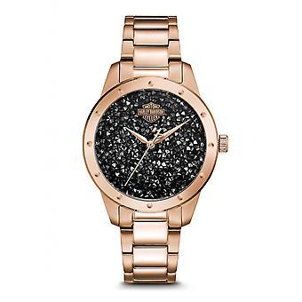 Harley Davidson 77L108 Women's Crystal Set Wristwatch