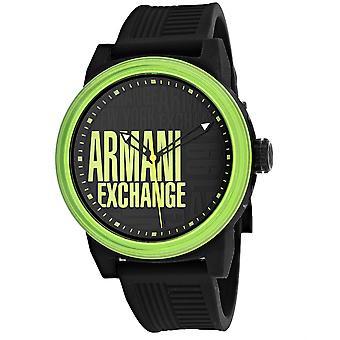 Armani Exchange Men's Reloj de marcado de tres manos en negro - AX1583