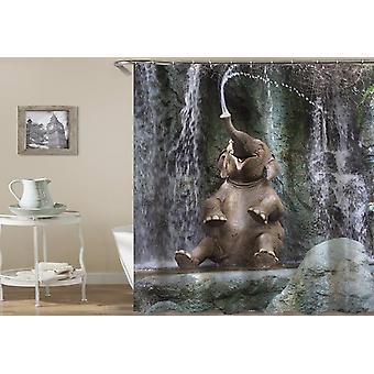 Gelukkig olifant douche gordijn