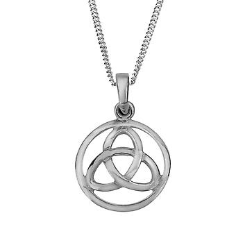 "Celtic Holy Trinity Knot Necklace Pendant Round Shape - Includes 18"" Chain"