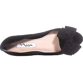 NINA Wisdom Bow Ballet Flats, Black Night, 6 États-Unis / 36,5 UE