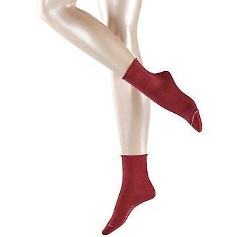 Esprit glitrende Diamond 2-pakning sokker-garnet rød