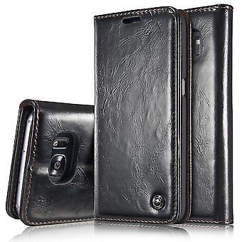 Case For Samsung Galaxy S7 Edge Black Wallet
