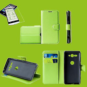 For Samsung Galaxy A50 A505F/A307F Pocket Wallet Premium Green Protection Case Case Cover Case + 0.26mm H9 2.5 Hard Glass