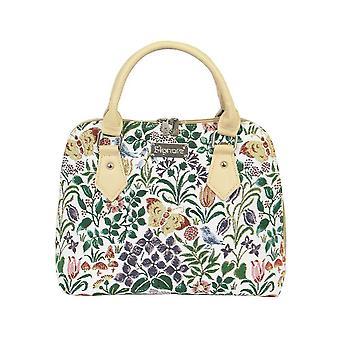 Voysey - spring flowers top-handle shoulder bag by signare tapestry / conv-spfl
