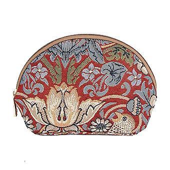 William Morris-morango ladrão saco cosmético vermelho por negativosão tapeçaria/cosm-strd