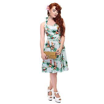 Collectif Vintage Women's Lori Tropical Pin Up Girl Swing Dress