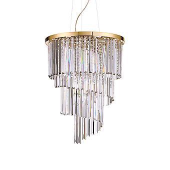 Ideal Lux Carlton 12 licht hanger licht goud IDL213521