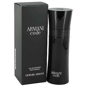 Armani Code Eau De Toilette Spray By Giorgio Armani   416211 75 ml