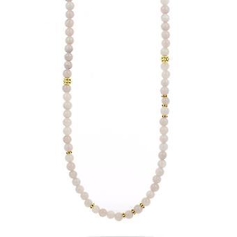 Collier et pendentif Les Interchangeables A59273   - Sautoir Bobo Chic Beige Rose  Femme