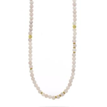 Vaihdettavat kaula koru ja riipus A59273-Sautoir Bobo Chic beige ruusu Femme