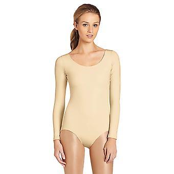 Capezio Women's Long Sleeve Leotard,Nude,X-Small, Nude, Size X-Small