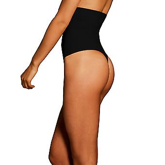 Womens Body Wrap Regular Pin Thin High Waist Black Thong 44841