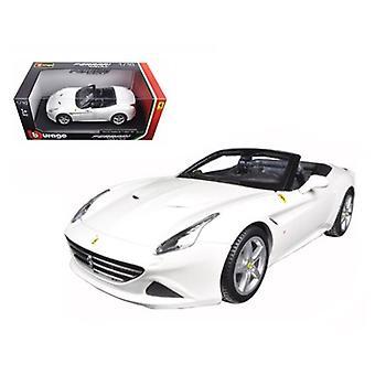 Ferrari California T (offenes Oberteil) Weiß 1/18 Diecast Modellauto von Bburago