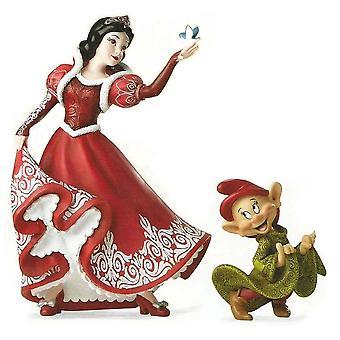 Disney Showcase  Christmas Snow White & Dopey Figurine