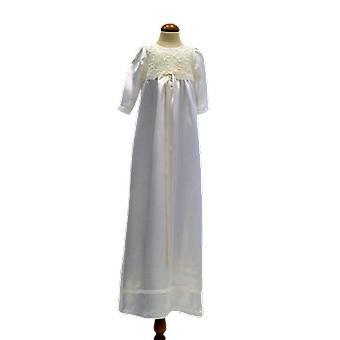 Dopklänning I Off White Med Lång ärm, Smal Off White Doprosett