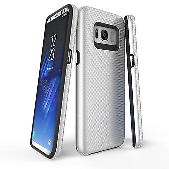 Para samsung Galaxy S8 Case, prata armadura protetora durável capa de telefone slim