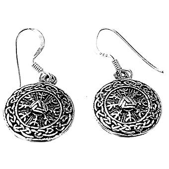 Earring 18 wotans knots - silver