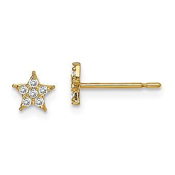 14k Madi K Star CZ Cubic Zirkonia Simuloitu Diamond korvakorut korut lahjat naisille