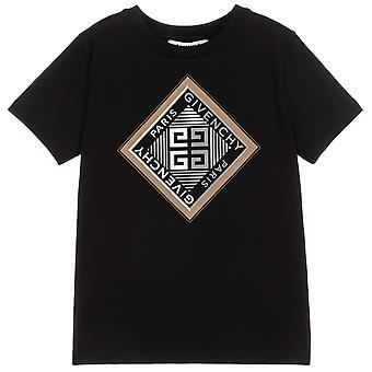 Camiseta de impressão do logotipo gráfico givenchy kids