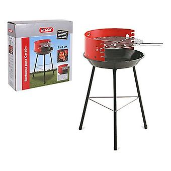 Coal Barbecue on Pied Algon Red Black Round (41 cm)