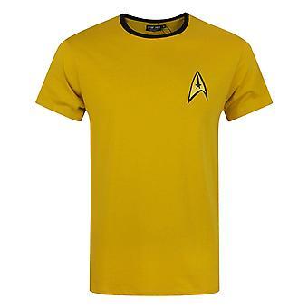 Star Trek Uniform Command Medical Security Red Yellow Blue Costume Men's T-Shirt