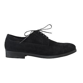 Dolce & Gabbana schwarz Wildleder Leder formale Derby Schuhe