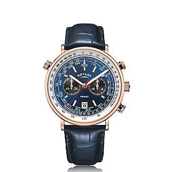 Rotary GS05237-05 Men's Henley Chronograph Blue Strap Wristwatch