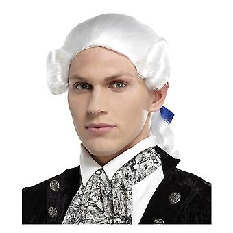 Royal Grand White Colonial Judecător George Washington franceză Bărbați Costum Peruca