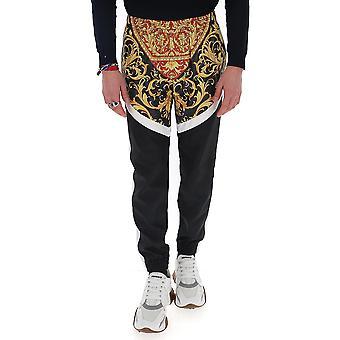 Versace A84825a232533a7207 Men's Black Cotton Pants